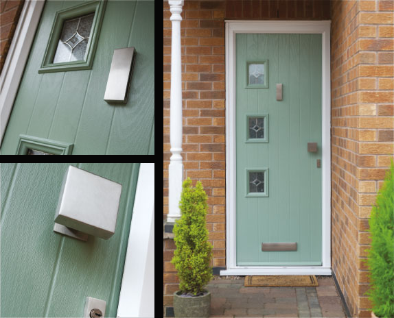 Cottage Composite Front Door in Chartwell Green