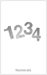 chrome door numerals