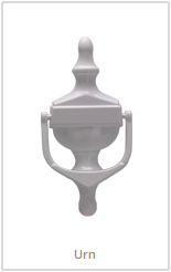 white urn knocker