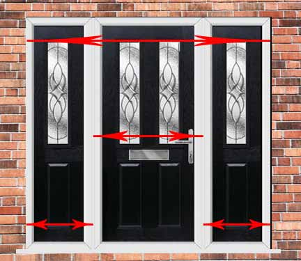 How to measure a double glazed door window for External double doors and frames
