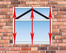 how to measure the height of a upvc double glazed window