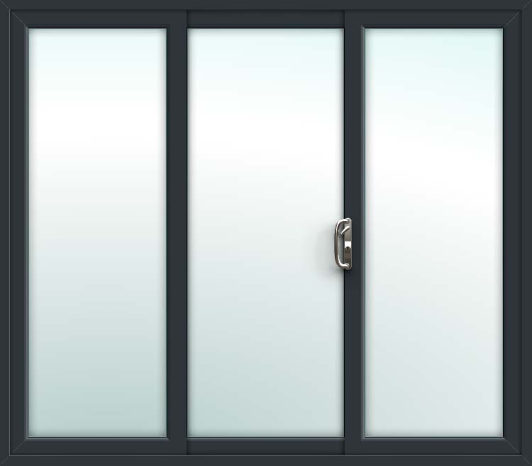 buy popular 14146 793d2 Grey 3 Pane Sliding Patio Doors