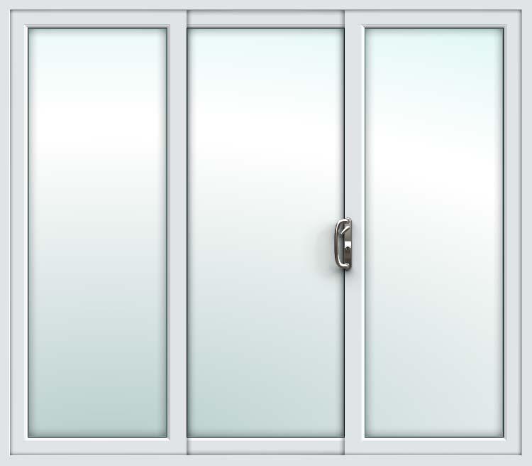 online store 581f9 7ab57 White 3 Pane Sliding Patio Doors