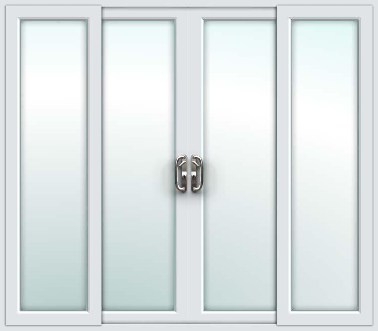 Black Upvc Windows >> White 4 Pane Sliding Patio Doors