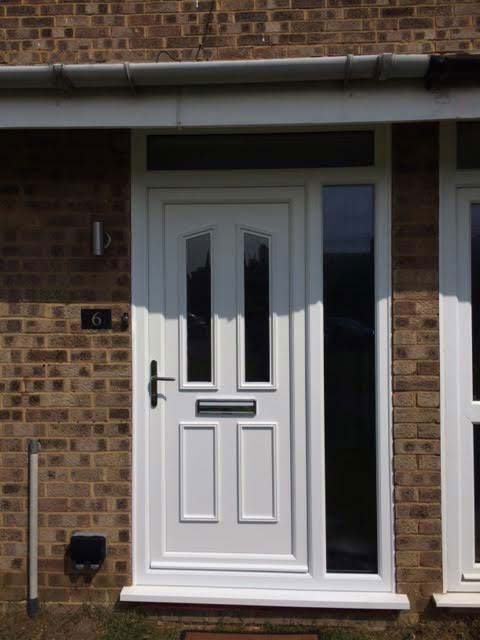 clinton two glazed upvc door