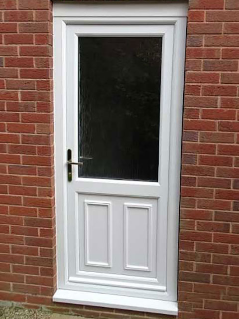 clinton half panel upvc door