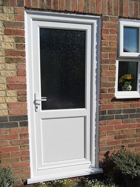 2xg half glazed upvc door