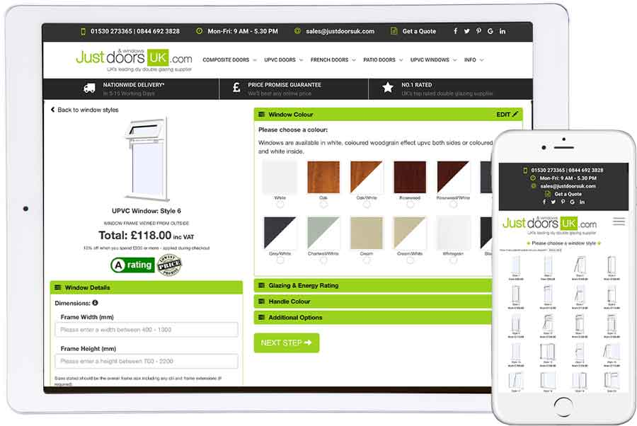 design and price your upvc windows online