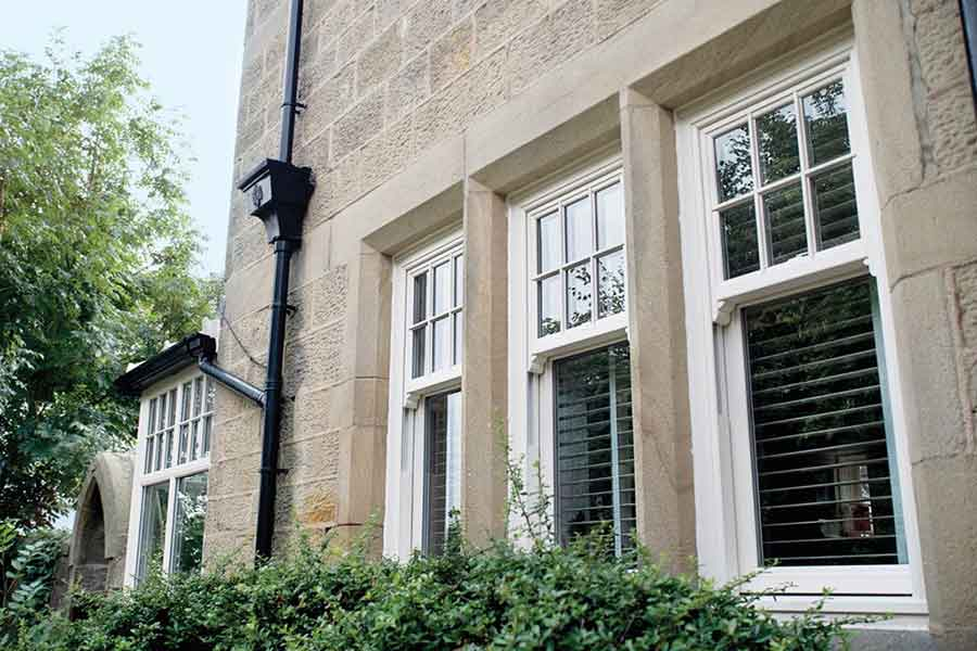 sliding sash upvc window in white